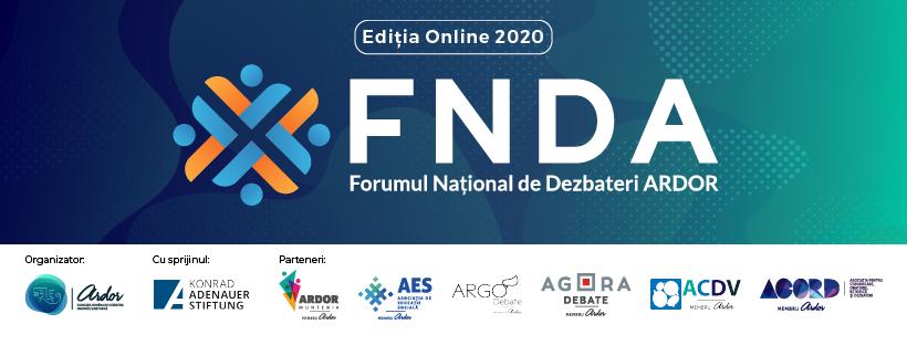 Cover general - Forumul National de Dezbateri, 2020